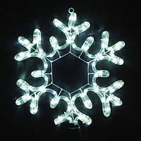 Гирлянда Мотив Снежинка уличная, 50 см, светодиодная, цвет белый холодный, 3d фигура для украшения