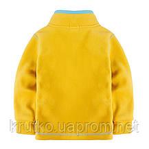 Кофта детская флисовая утеплённая Декор, желтый Berni, фото 2