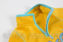 Кофта детская флисовая утеплённая Декор, желтый Berni, фото 3