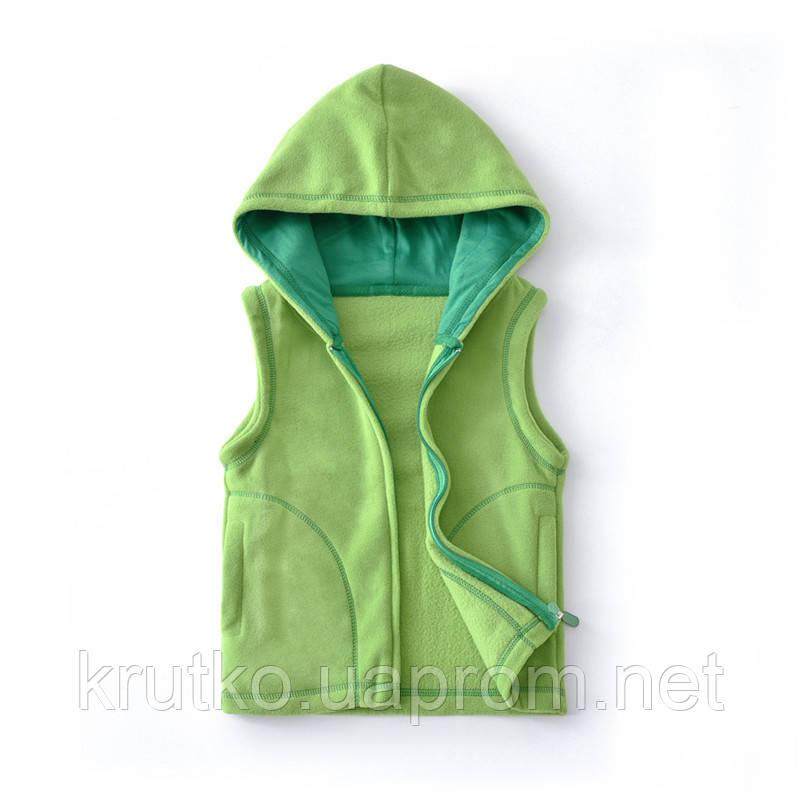 Жилет детский флисовый утеплённый Контур, зелёный Berni