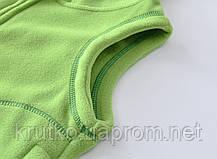 Жилет детский флисовый утеплённый Контур, зелёный Berni, фото 2