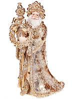 """Новогодняя фигура под елку """"Золотой Дед Мороз"""", новогодняя игрушка, размер 30 см"""