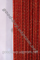 Шторы - нити однотонные с золотом / серебро люрекс 5503