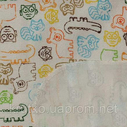 Пеленка непромокаемая 120 х 75 см. Контуры животных Berni, фото 2