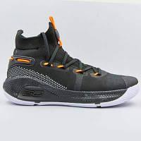 Кроссовки баскетбольные Under Armour 902G-1 размер 41-45 BLACK/WHITE/ORANGE черный-белый-оранжевый Код 902G-1