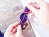 Часы Starry Sky Watch на магнитной застёжке (sw1309) цвет фиолетовый, фото 7
