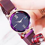 Часы Starry Sky Watch на магнитной застёжке (sw1309) цвет фиолетовый, фото 8