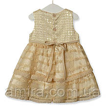 Платье для девочки Цветочная нота, бежевый Zoe Flower, фото 3
