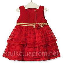 Платье для девочки Цветочная нота, красный Zoe Flower, фото 2