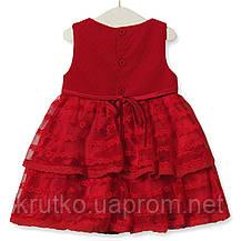 Платье для девочки Цветочная нота, красный Zoe Flower, фото 3