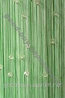 Шторы - нити однотонные стеклярусом ods-7517