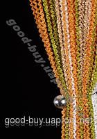 Шторы - нити лапша радуга объемная 9925