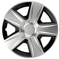 Колпаки на колеса R14 серебро + черные, Elegant Esprit silver/black (105069) - комплект (4 шт.)