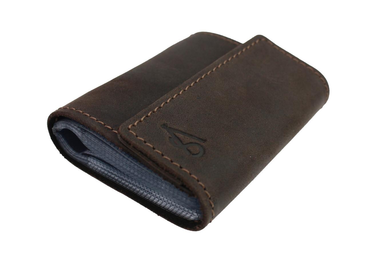 Визитница карточница карт-холдер SULLIVAN v9(5) коричневая
