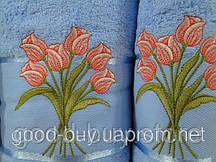 Комплект подарочные полотенец Tulip хлопок  1шт.- лицо, 1шт. - баня  Турция