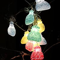 """Новогодняя гирлянда """"Мешочек зефирные"""" 25см /1.5м (20873), фото 1"""