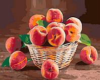 Картина по номерам Персики, 40x50 см, премиум упаковка, Brushme (Брашми) (PGX30478)