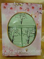 Комплект подарочные полотенец Sakura хлопок 1шт.- лицо, 1шт. - баня, 1шт.- салфетка Турция