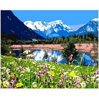 """Картина по номерам. Brushme """"Горное озеро"""" GX7809"""