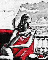"Картина по номерам. Brushme ""Девушка в красном"" GX29769"