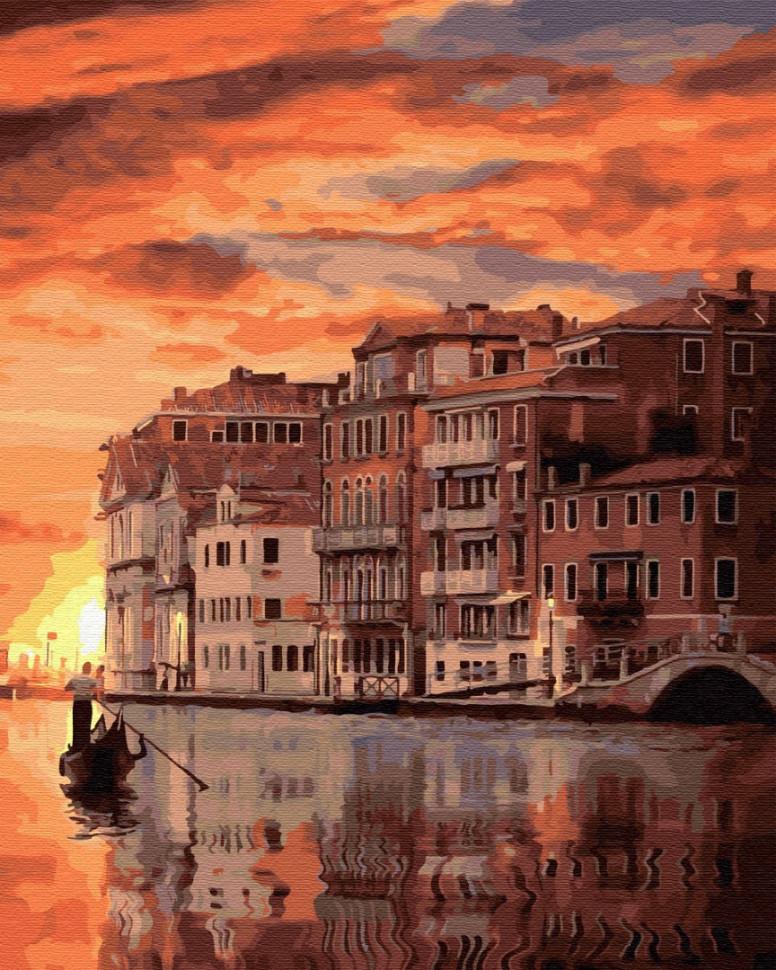 """Картина по номерам. Brushme """"Закат в Венеции"""" GX32324"""