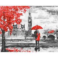 """Картина по номерам. Brushme """"Контраст Лондона"""" GX22089"""