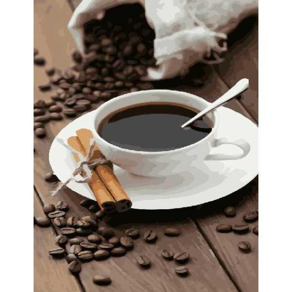 "Картина по номерам. Brushme ""Кофе и палочки корицы"" GX22641"