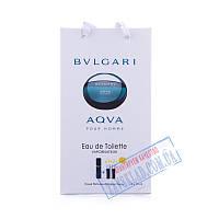 Подарочный мужской набор духов Bvlgari aqva 45 мл