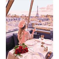 "Картина по номерам. Brushme ""Девушка на телебашне в Париже"" GX29245"
