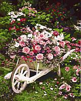 """Картина по номерам. Brushme """" Сад """" GX8847"""