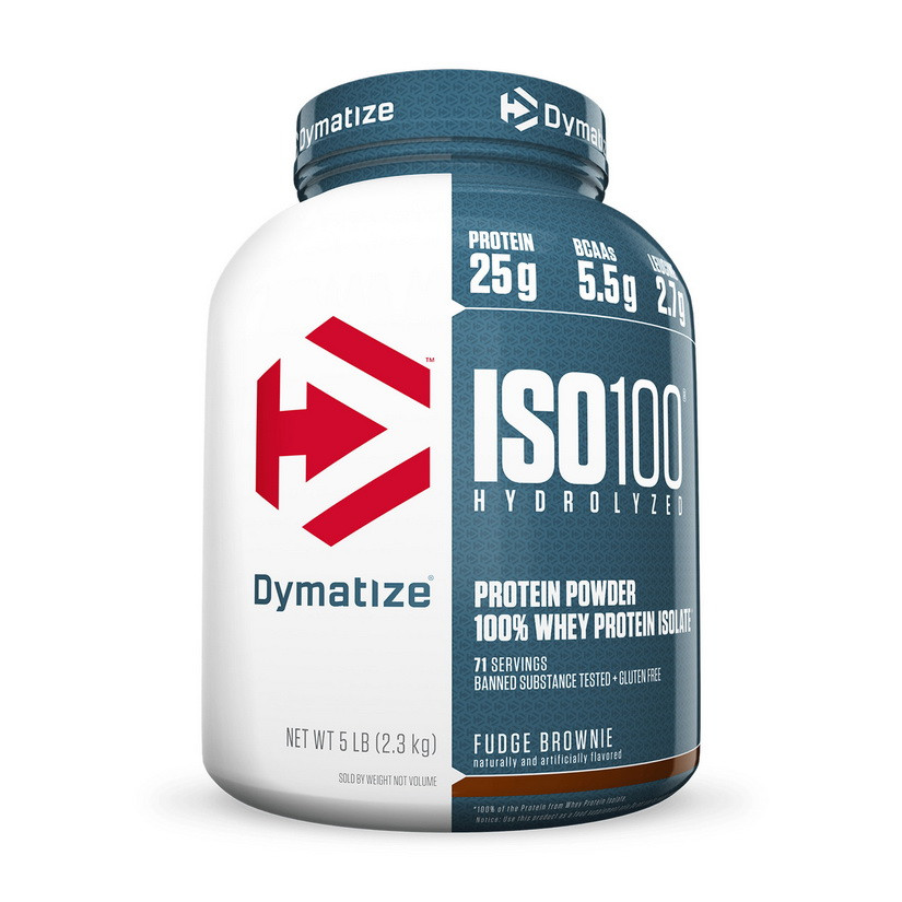 Протеин ISO 100 (2,3 kg, fudge brownie) Dymatize