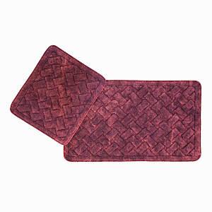 Набір килимків 2 предмета бордові Hasir Arya AR-TR1006872-bordo