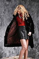 Шуба из черной норки двухсторонняя Real mink fur coats jackets, фото 1