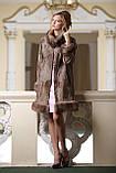 Пальто из каракульчи Svakara со съемной опушкой из куницы, фото 2