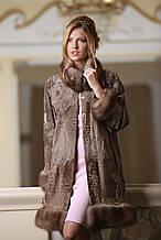 Пальто з каракульчі Svakara зі знімною опушкою з куниці