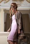 Пальто из каракульчи Svakara со съемной опушкой из куницы, фото 4