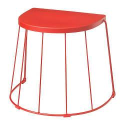 ИКЕА (IKEA) TRANARÖ, 104.114.21, Stołek / stolik wewn / ext, красный, 56x41x43 см - ТОП ПРОДАЖ