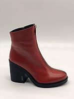 Ботинки женские Guero красный 010-5823 кожа 37(р)