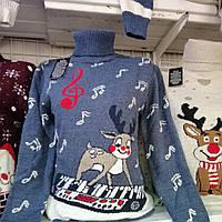 Женский новогодний свитер, свитер с оленями