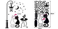 Наклейка виниловая Коты. Романтика 3D декор
