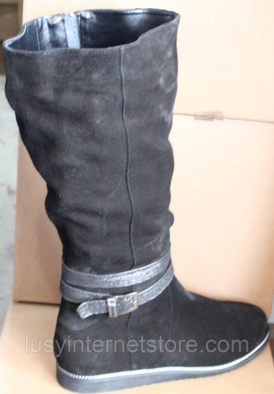 Сапоги женские зимние замшевые большого размера от производителя модель БР105