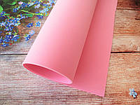 Фоамиран для ростовых цветов, 2 мм, 50х50 см, цвет светло-розовый