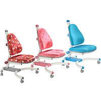 Детское кресло «Enlightening Chair» К-639 Kaleidoscope, обивка синяя черные цветы