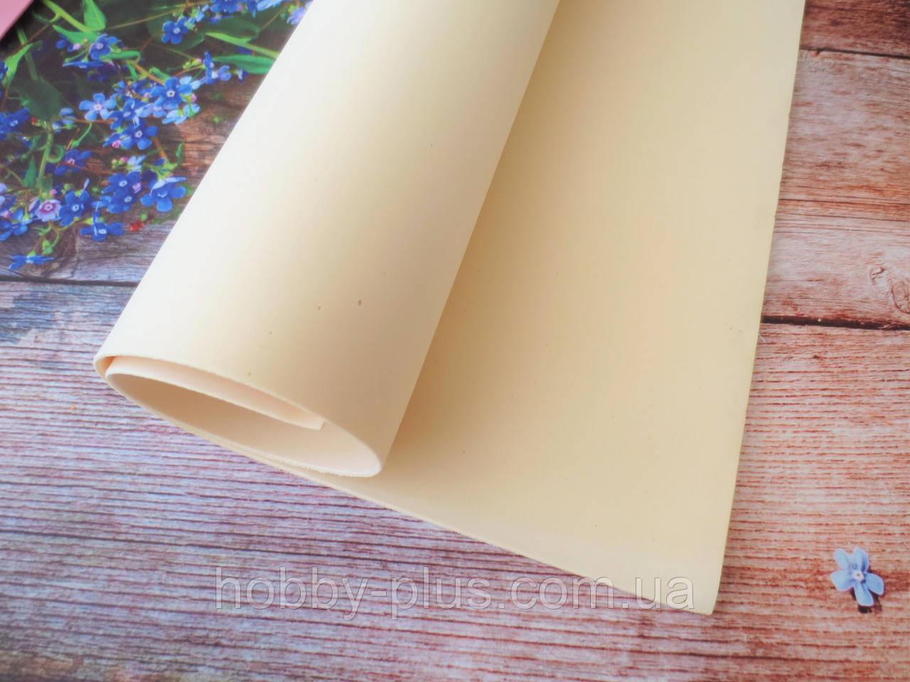 Фоамиран для ростовых цветов, 2 мм, 50х50 см, цвет молочный