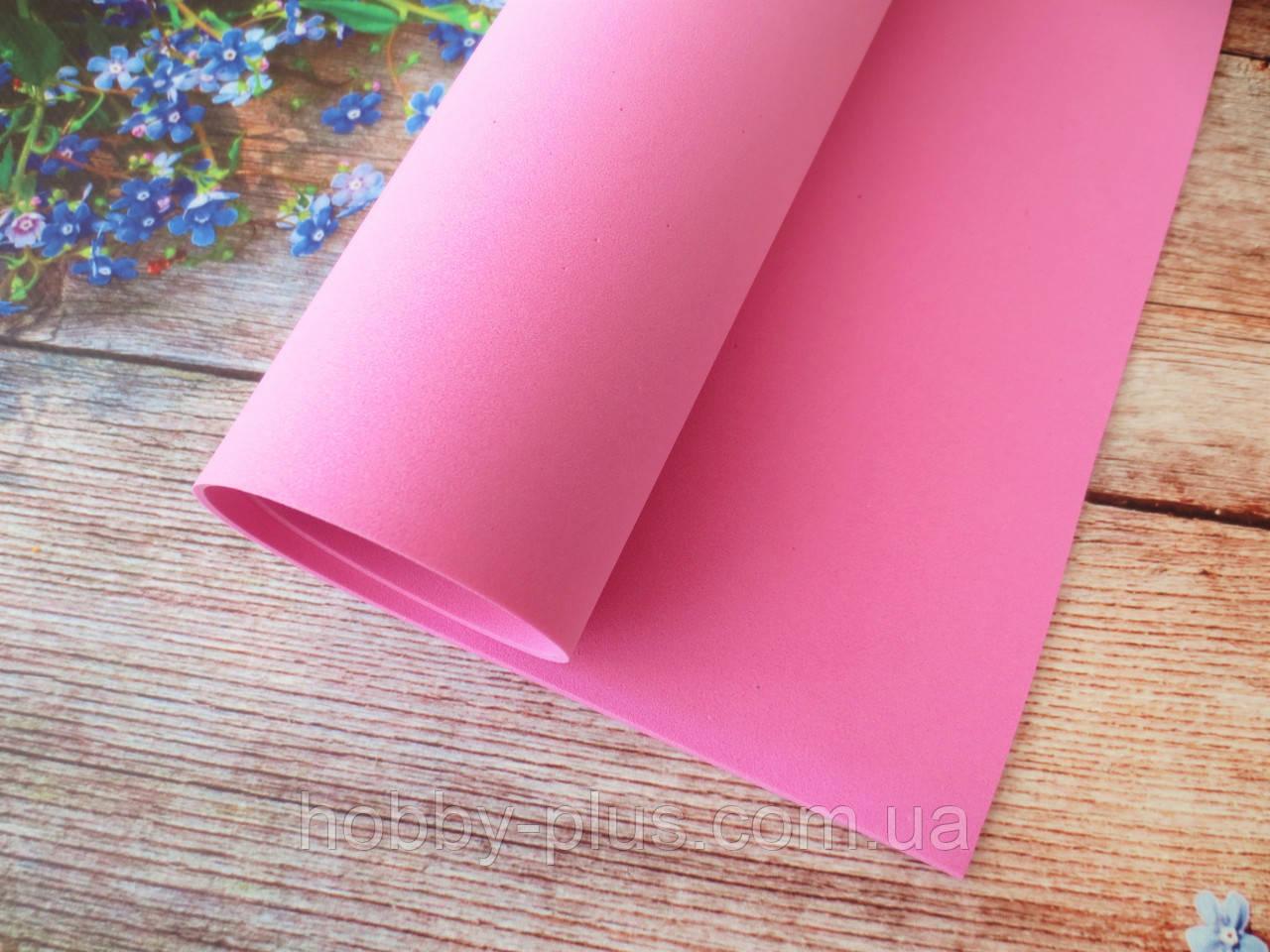 Фоамиран для ростовых цветов, 2 мм, 50х50 см, цвет розовый