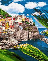 Картина по номерам Курортный городок в Италии (40 х 50 см)