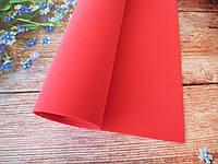 Фоамиран для ростовых цветов, 2 мм, 50х50 см, цвет темно-красный