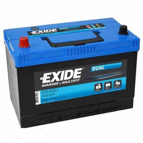 EXIDE 6СТ-95 Аз ER450 DUAL Тяговый аккумулятор, фото 2