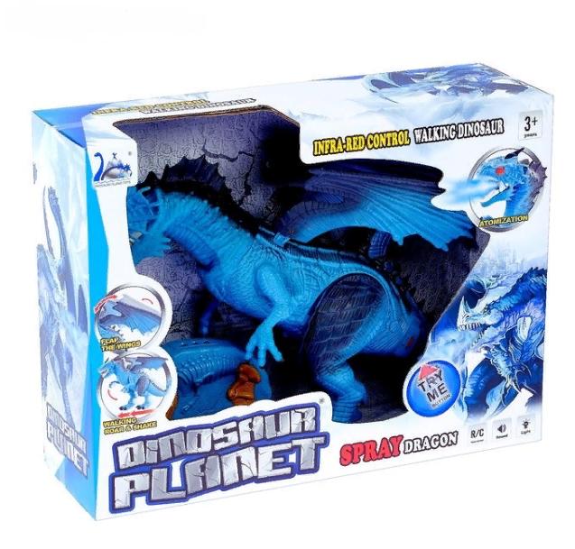Динозавр ледяной Дракон на радиоуправлении Same Toy Dinosaur Planet RS6158A дышит паром