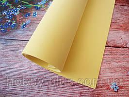 Фоамиран для ростовых цветов, 2 мм, 50х50 см, цвет светло-желтый